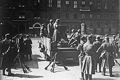 Soldiers of the Austrian Army in Vienna, during the Austrian Civil War in 1934