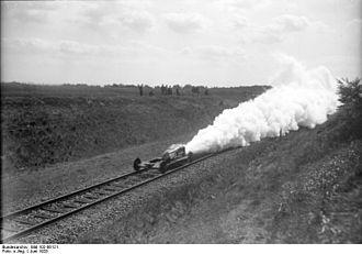 Opel-RAK - Rak.3 rocket train during burn