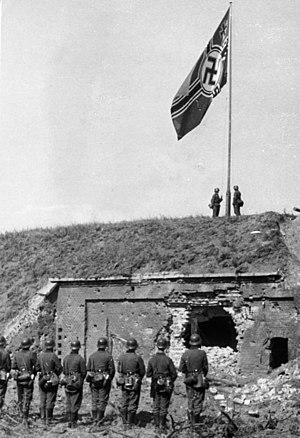Battle of Westerplatte - Reichskriegsflagge on Westerplatte