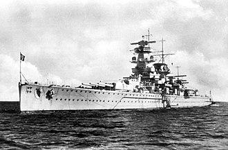 """German cruiser Admiral Graf Spee - Image: Bundesarchiv DVM 10 Bild 23 63 06, Panzerschiff """"Admiral Graf Spee"""""""
