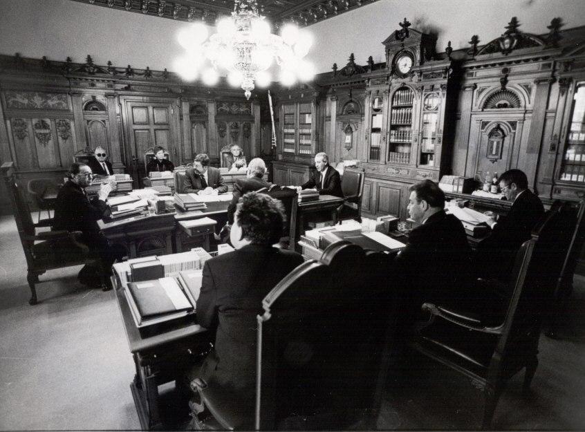 Bundesrat (Schweiz) im Sitzungszimmer