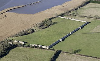 Burgh Castle - The Roman fort remains from above