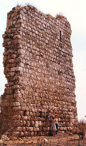 Burgata - Ruins of Burj al-Atut fort on the outskirts of Burgata