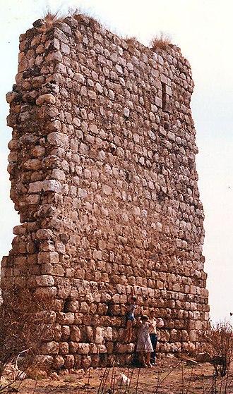 Burgata - Ruins of Burj al-Atut fort on the outskirts of Burgata