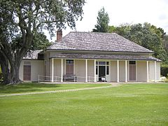 Busby's residence Treaty House, Waitangi, East.jpg