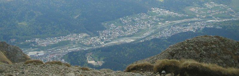 Vista de Busteni desde Caraiman
