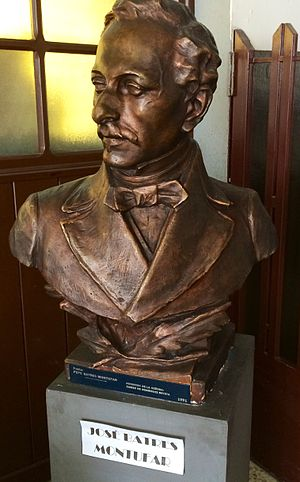 José Batres Montúfar - José Batres Montúfar bust that was originally placed at the Colón Theater in 1892.  After the earthquakes of 1917-18, it was refurbished and donated to the Guatemala National Library.
