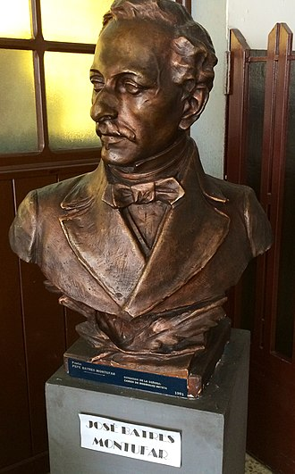 Manuel Barillas - José Batres Montúfar bust that was originally placed at the Colón Theater in 1892.  After the earthquakes of 1917-18, it was refurbished and donated to the Guatemala National Library.