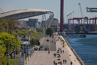 The Port of Lisbon is one of the busiest ports in Europe. By the river (34263121734).jpg