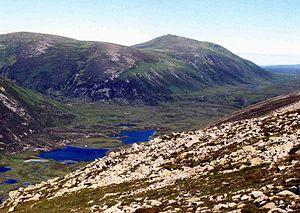Bynack More - Bynack More seen from the slopes of Beinn a' Chaorainn across the Dubh Lochan.