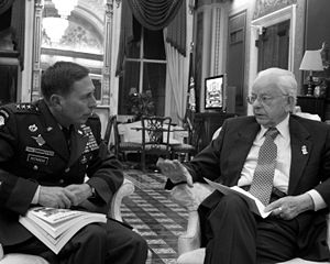 U.S. Senator Robert Byrd (D-WV) with General D...