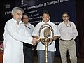 C.P. Joshi lighting the lamp to inaugurate the 5th National Workshop on Computerisation in Transport Sector, in New Delhi. The Minister of State for Road Transport and Highways, Shri Tusharbhai Chaudhary is also seen.jpg