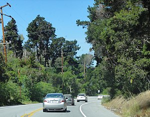California State Route 68 - SR 68 eastbound approaching the Monterey Peninsula