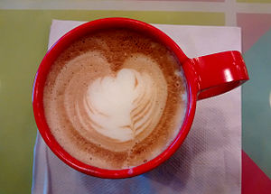 Cappuccino - Cappuccino with heart decoration