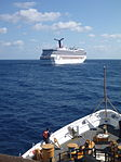 CGC Vigorous monitors cruise ship Carnival Triumph.JPG