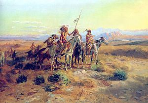 Painting The Scouts by Charles Marion Russell