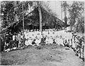 COLLECTIE TROPENMUSEUM Het afscheidsfeest van de Heer P. Kolff op een tabaksonderneming in Oost-Sumatra. TMnr 60001671.jpg