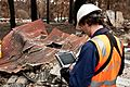 CSIRO ScienceImage 10490 Conducting bushfire research at Kinglake after the Black Saturday bushfires.jpg