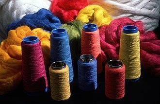 Dyeing -  Dyed Wool Reels (CSIRO)