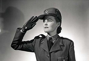 Canadian Women's Army Corps - Publicity shot of CWAC member taken in 1943.