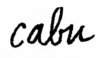 Cabu - Image: Cabu signature
