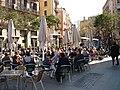 Cafés in El Borne, sunny (4480752055).jpg