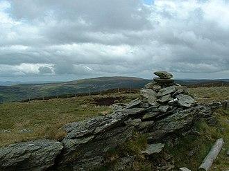 Pen Bwlch Llandrillo - Moel yr Henfaes summit, looking towards Moel Fferna