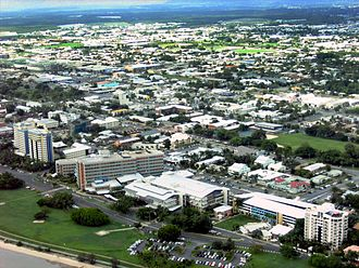 Cairns Hospital - Cairns Base Hospital (foreground), 2007