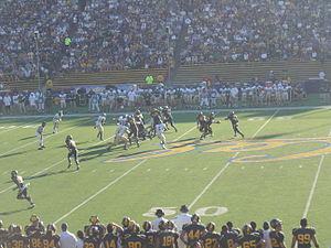 2008 California Golden Bears football team - Riley hands the ball off to Best
