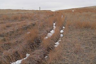 National Register of Historic Places listings in Keith County, Nebraska - Image: California Hill (Keith County, NE) ruts 1
