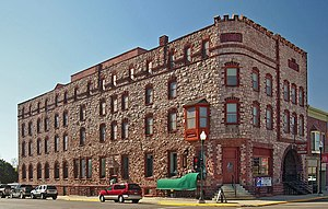 Calumet Hotel (Pipestone, Minnesota) - The Calumet Hotel from the northwest