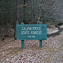 Thumbnail image of entrance sign for Calvin Price State Forest
