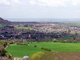 Cam, Gloucestershire - Image: Cam.from.peaked.down .arp