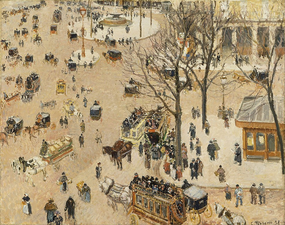 La place du théâtre français de Pisarro (1898).