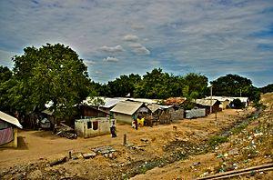 Sri Lankan Tamils in India - Choking drains next to the refugee camp at Vembakkottai village, Virudhunagar