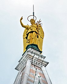 photograph of the weathervane of the St Mark's campanile