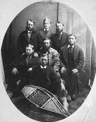 Canadian Pacific Survey - Unidentified engineers of the Canadian Pacific Railway Survey, 1872.