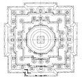 Candi-Mendut Java RoofplanReconstructed 1912.jpg