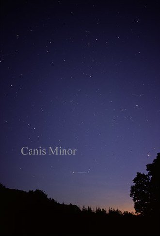 Canis Minor - The constellation Canis Minor as it can be seen by the naked eye.