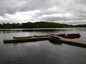 Pier - Canoeing floating dock pier in Ontario, Canada