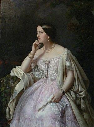 Harriet Howard - Henriette Cappelaere: Portrait of Elisabeth-Ann Haryett (Musée du Second Empire, Château de Compiègne)