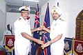 Captain GS Oberoi receiving the personal effects of Late Admiral OS Dawson from Commander Janardhanan (1).jpg