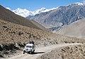 Car on road to Muktinath - Annapurna Circuit, Nepal - panoramio.jpg