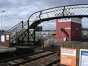 Carnoustie railway station - Image: Carnoustie railway station 1