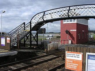Carnoustie railway station - Image: Carnoustie railway station 1