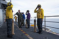 Carrier Strike Group 4 commander visits USS Iwo Jima 141009-N-QM905-085.jpg