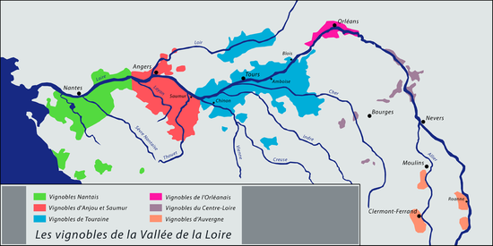 carte vignoble nantais