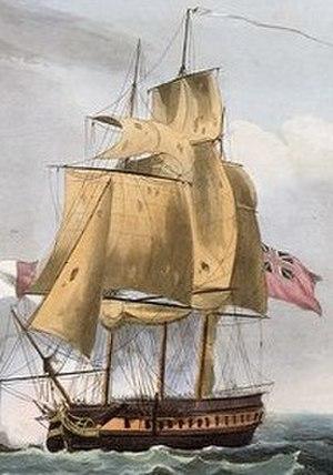 HMS Lizard (1757) - Image: Carysfort cropped