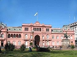 Casa Rosada, sede del poder ejecutivo