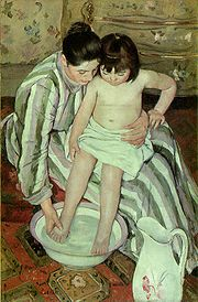 The Bath, a painting by Mary Cassatt (1844–1926).